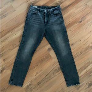 Levi 501S size 27 black/grey denim shade